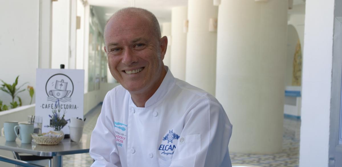 Jorge Pereiro, un chef con el corazón puesto en Acapulco.